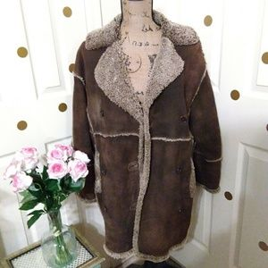 💕Womens genuine leather thick winter coat